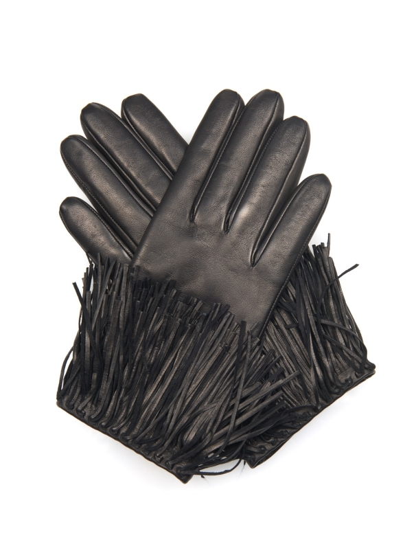 diane-von-furstenberg-black-fringe-leather-gloves-