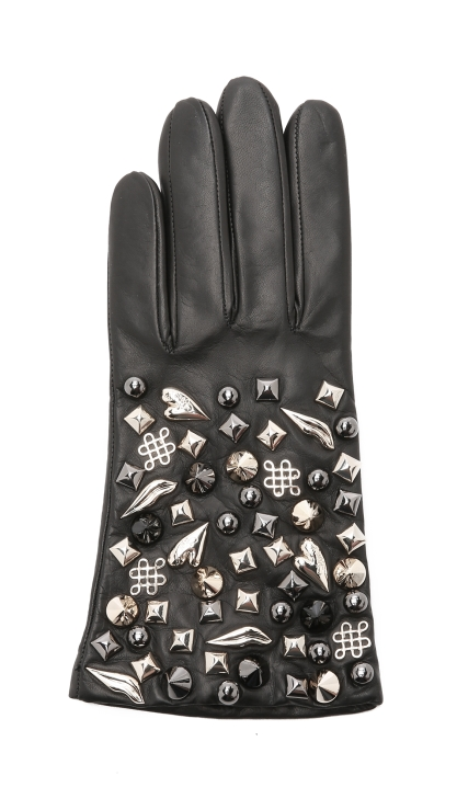 diane-von-furstenberg-black-studded-leather-gloves-black-