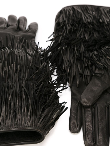 dsquared2-black-layered-fringe-gloves-