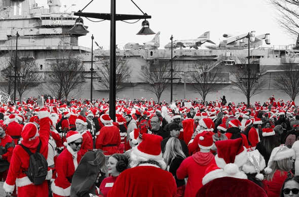 George Grubb Santa Pub Crawl NYC 2012