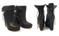 Illex Kinni Loveless Corset Wedge Boots