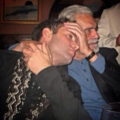 Omar Sharif with grandson, Omar Sharif Jr.