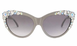 A-Morir Bejeweled Gray Sunglasses ss2016