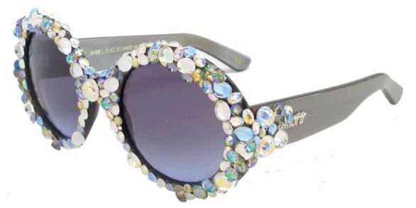 A-Morir Bejeweled Round Gray Sunglasses ss2016