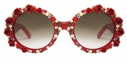 A-Morir Roses crystal Sunglasses Red ss2016