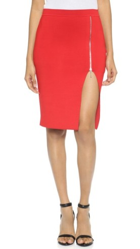 Alexander Wang Fitted Zip Pencil Skirt 2
