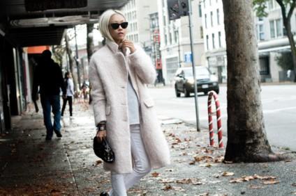 Coccoon Coat White ASOS