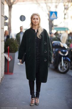 Cocoon Coat Green Fuzzy Stockholm