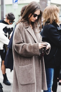 Cocoon Coat Taupe