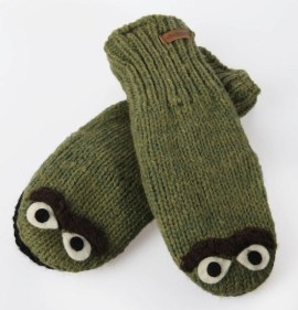 DeLux Oscar the Grouch mittens
