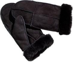 Shearling Mittens black