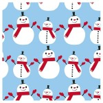 Snowman lunch napkins