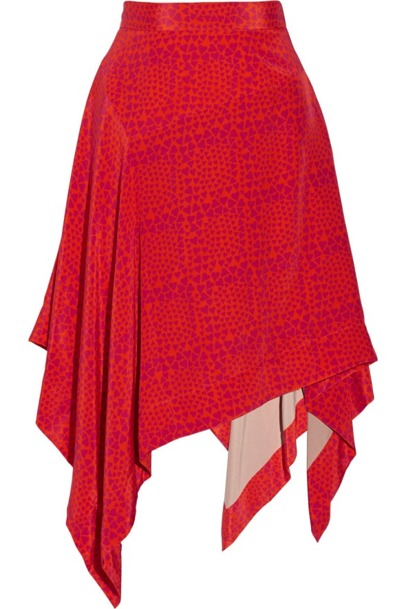 Vivienne Westwood Red Label heart print chiffon skirt