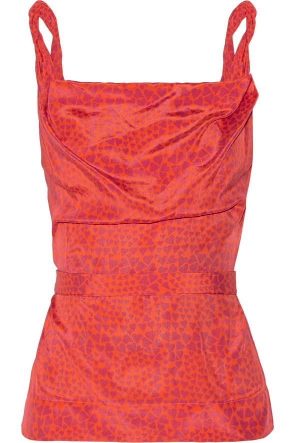 Vivienne Westwood Red Label heart print crepe de chine top