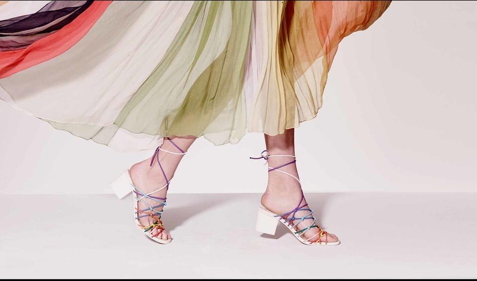 Chloe multi-colored sandals