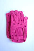 Ines FINGERLESS PECCARY DRIVING GLOVES