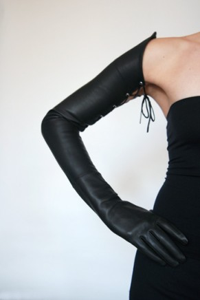 Ines LACED EXTREME LONG LEATHER GLOVES