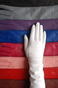 Ines PETITE CASHMERE LINED LEATHER GLOVES