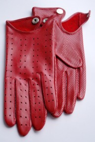 Ines PUNCHED LEATHER DRIVING GLOVES
