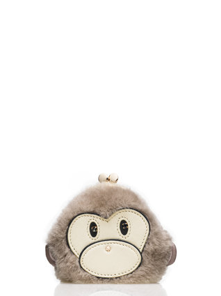 Monkey KATE SPADE Caution to the Wind coin purse $98