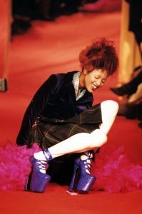 Mandatory Credit: Photo by News (UK) Ltd / Rex Features (212718m) Naomi Campbell falling over Vivienne Westwood Fashion Show, Paris, France - 1993