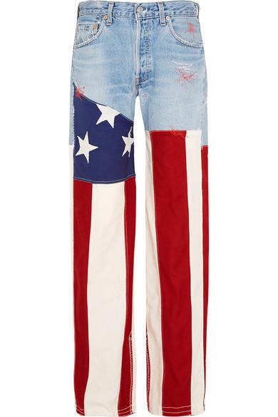 Ronald Van Der Kemp  J.M Guys patchwork low-rise boyfriend jeans $1380