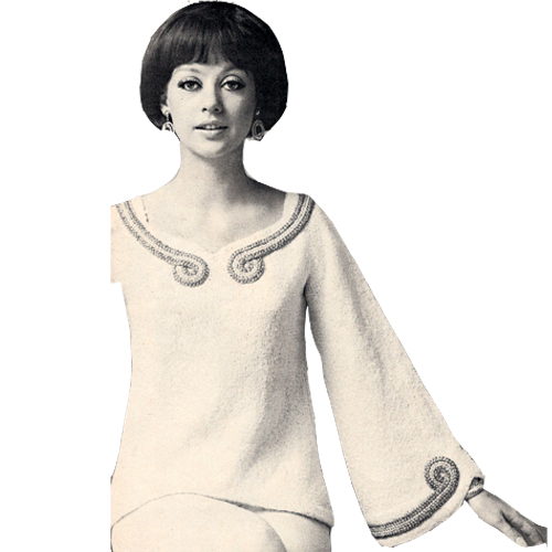Sleeve bell fcc52-cocktail-pullover-knitting-pattern-a