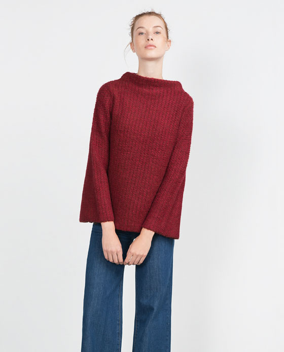 Sleeve Bell Sweater Zara