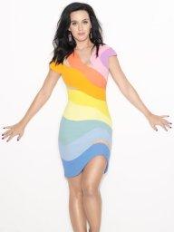 1990 Thierry Mugler Rainbow Dress Katie Perry