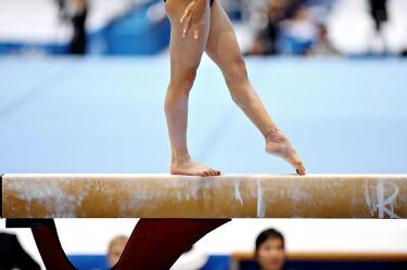 Athlete Gymnast-balance-beam