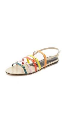 Oscar de la Renta Multi-colored strappy sandals $590.00