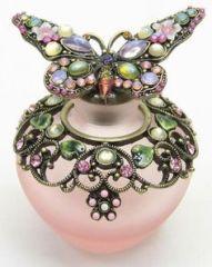 Perfume Bottle Pink Butterfly