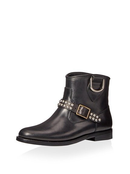 Saint Laurent Motorcycle Studded Strap Boot