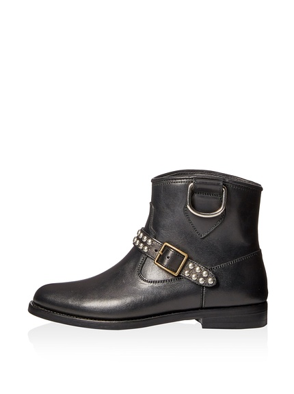 Saint Laurent Motorcycle Studded Strap Boot2