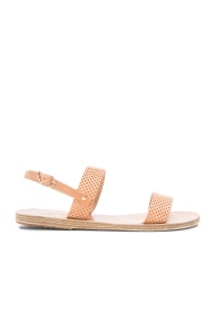 Ancient Greek Sandals Perferated Leather nude