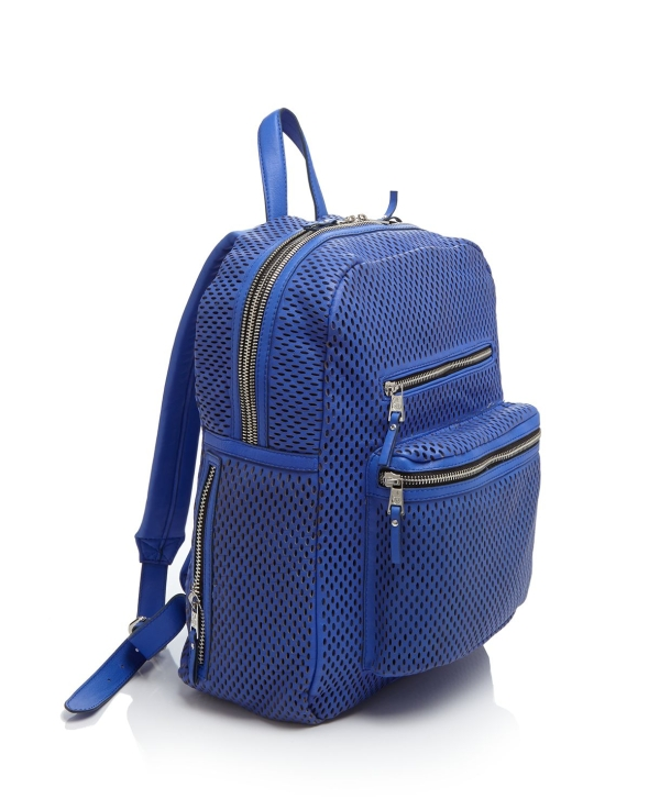 Ash Danica Perforated Leather Backpack Cobalt