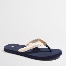 jcrew-braided-rope flip flops