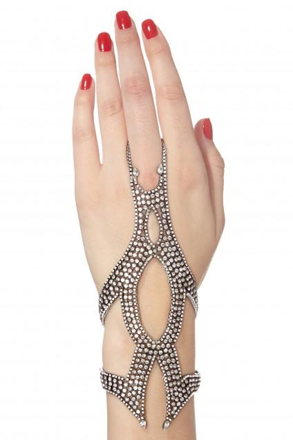 Lionette Marsalis Crystal Embellished Glove $589 Calypso
