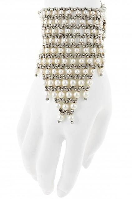 Milliana Valaria Crystal Pearl Cuff $319 Calypso