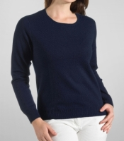 J.Crew Navy Cashmere Ribbed Sweater