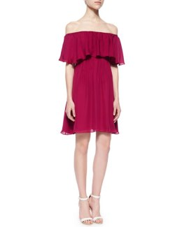 alice-olivia-berry-dress-dora-ruffle front