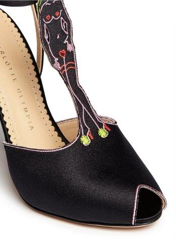 Charlotte Olympia Pin-Up Satin Close-up