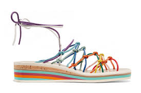 Chloe Rainbow Sandal Wedges