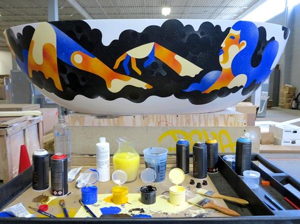 James Reka Custom Painted Apaiser Haven Bath Tub