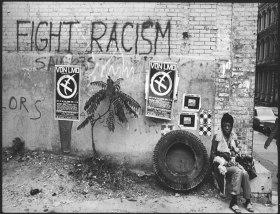 Len Speier Fight Racism, White Street, NYC, 1969.