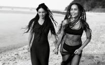 Lisa Bonet and Zoe Kravitz in Calvin Klein's SS16 watches and jewellery campaign CREDIT CASS BIRD