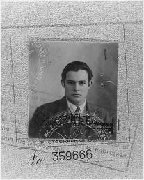Man in suit Ernest Hemingway 1923