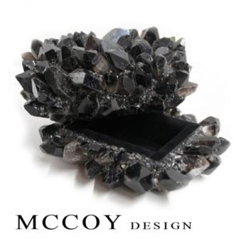 McCoy black quartz jewelry box