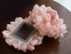 McCoy rose quartz jewelry box