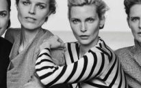 Yasmin Le Bon, Eva Herzigova, Nadja Auermann and Stella Tennant in Giorgio Armani's New Normal collection SS16 campaign CREDIT PETER LINDBERGH